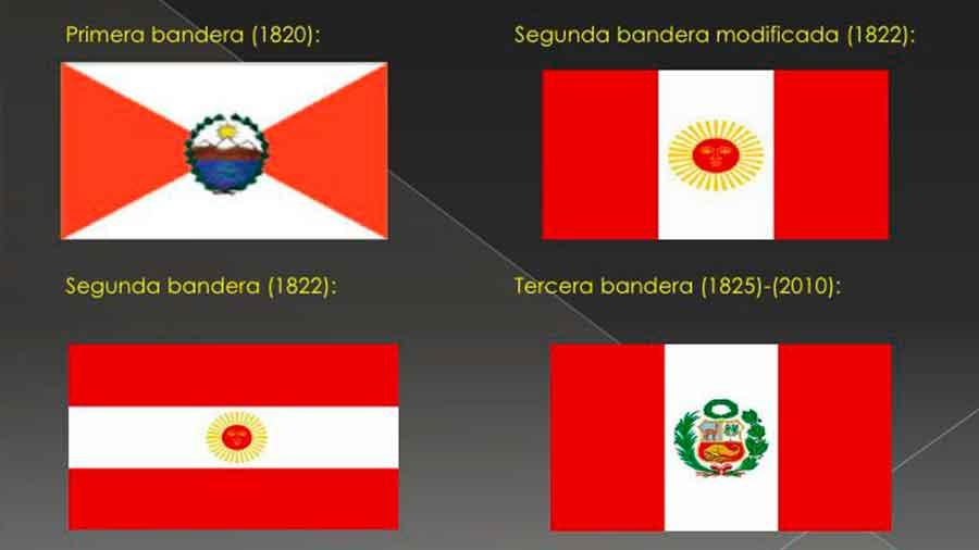 El Perú ha tenido 4 banderas